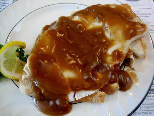 Open-Faced Turkey Sandwich at May's