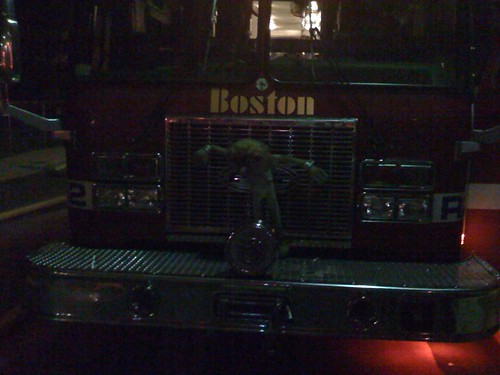 Ragdoll on Fire Truck
