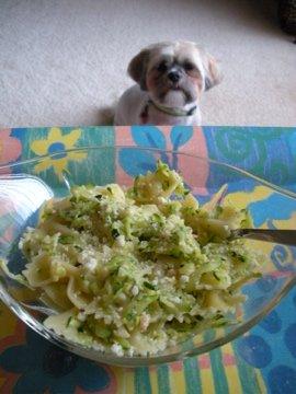 Bowtie Pasta with Zucchini and Garlic