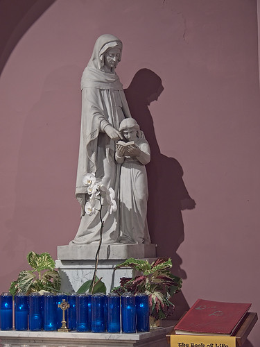 Visitation-Saint Ann Shrine, in Saint Louis, Missouri, USA - statue of Saint Ann