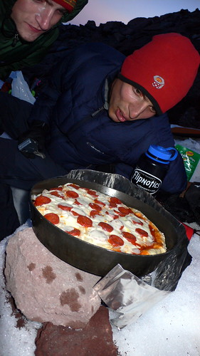 Pizza high on the mountain