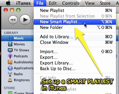 Set up a Smart Playlist in iTunes