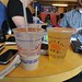 One Boba Tea (Bubble Tea) and one slightly-less-than-orange juice. About $5 in the Sunset District, San Francisco.