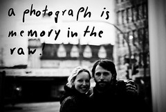 a photograph is memory in the raw (besimo) Tags: city winter blackandwhite house reflection love nikon couple text font bielefeld deutschetelekom besim julitta projekt365 lightroom2