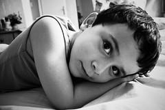 milan, le calme avant... autre chose. (monsieur ours) Tags: boy portrait france marseille child wb nb enfant garon