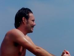 Jason looks for a decent wave (Jason Collin) Tags: jason japan collin skimboarding