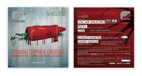 Family Club // SPANISH SUMMER GROOVES // flyer