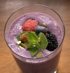 Berry Soy Milk Smoothie