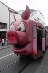 Piggy Tram (Elliott Bignell) Tags: pink piggy pig tram basel piggie basle basler kantonalbank pigtram schweinetram