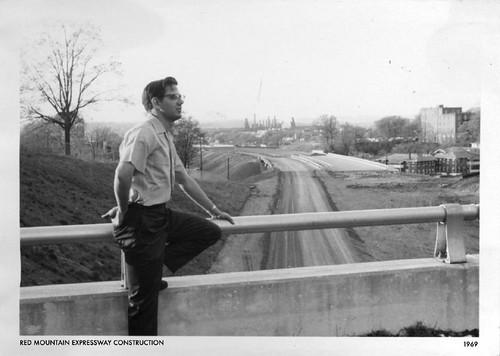 Tommy overlooking Red Mountain Expressway, 1968