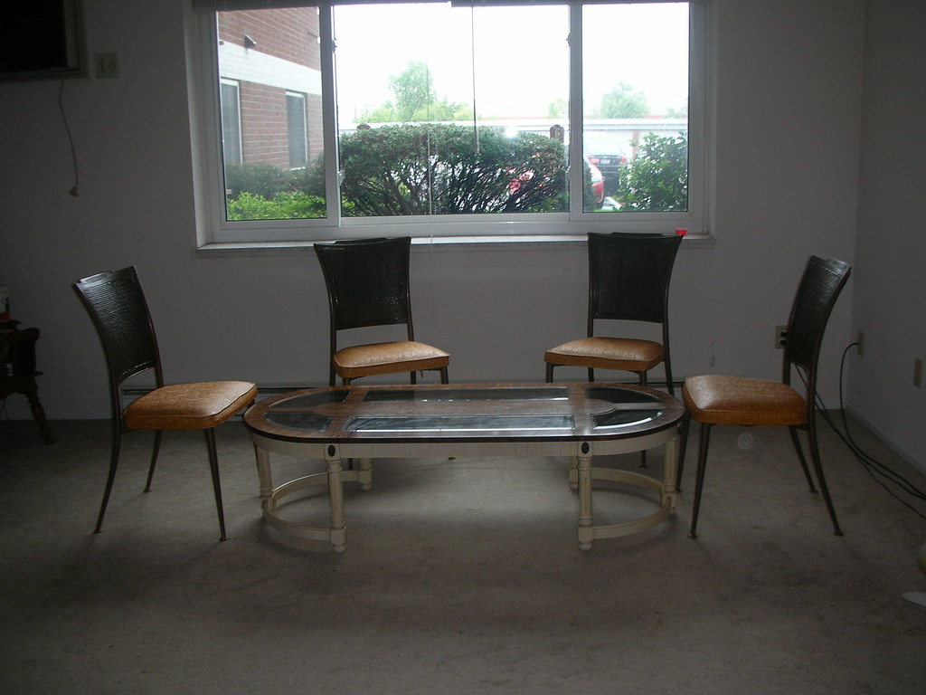 Coffee table with chairs