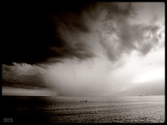 The Master of Weather (Shima Hitotsu) Tags: sea summer sky bw italy clouds landscape grado veneziagiulia platinumphoto overtheexcellence goldstaraward vanagram lesamisdupetitprince