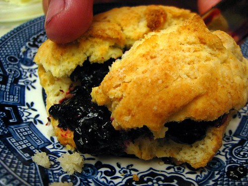 Elderberry Jelly on a Biscuit