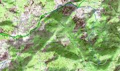 Carte Vacca - Funtanella (parcours Dominique Treillard en 07/2008)