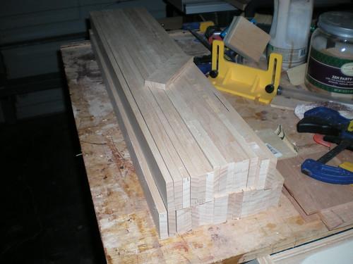 A ton of slats