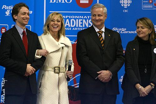 Shae Lynn Bourne. Victor Kraatz, Shae-Lynn Bourne, and BMO representatives. Opening Ceremony