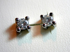 dormilonas brillantes (joyeria valls) Tags: joyeria pendientes diamantes brillantes oroblanco dormilonas