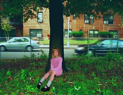 My Thinking Tree (Lisanne!) Tags: nyc portrait me brooklyn flickr prettyinpink sheepsheadbay lisanne 10yearold east14thstreet foreveryoung shoreparkway thinkingtree secondchildhood lisannesphotostream