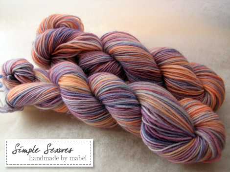 Handdyed Superwash Sock Yarn II - Jelly Bean