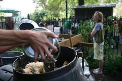 McCarren Park compost drop off. Photo by ryanlachica