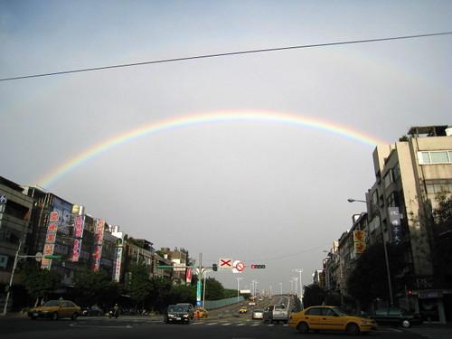 你拍攝的 10.16 下午4點28分的雙彩虹。