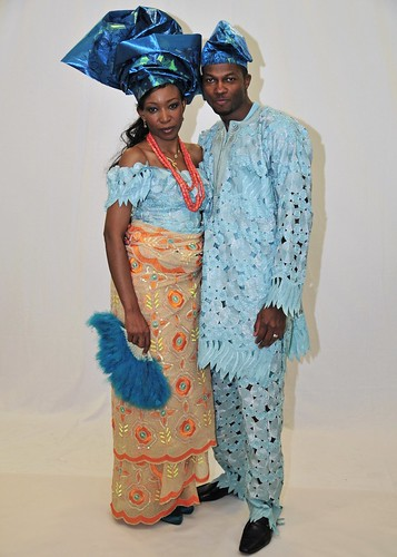 Bride and Groom in traditional African dress