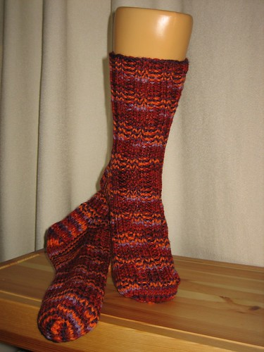 Socktober - Basic Socks in Red Heart Berries