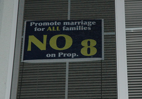 Yard sign in the window