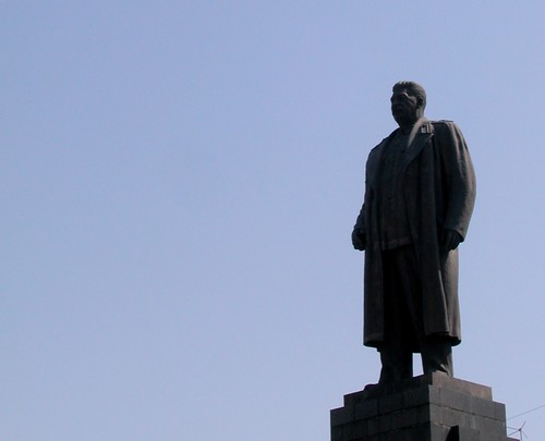 Statue of Stalin in Gori, Georgia