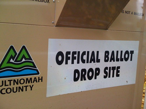Multnomah County Official Ballot Drop Site, Portland, Oregon