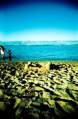 And so castles made of sand fall in the sea, eventually (Ilaria ) Tags: sea xpro mare estate crossprocess sandcastle croazia vacanze beah kodakelitechrome100 castellodisabbia vivitarultrawideslim toycamerafotografiaanalogicaitalia sviluppoinvertito