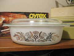Pyrex 'Golden Thistle' Promo