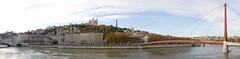 Panorama : quais de Saône, vieux Lyon et Fourvière