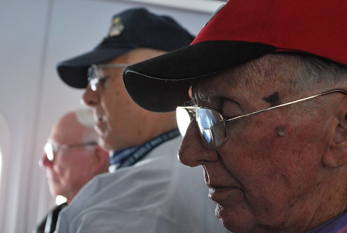 veterans on the plane