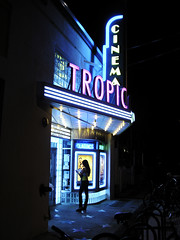 Classic Tropica (Henry M. Diaz) Tags: woman cinema girl female night standing reading waiting classics tropical movietheatre oldtown hdr tropicana artdecco neuvo keywestfl