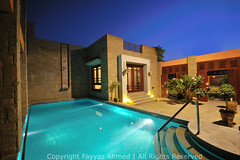 (Fayyaz Ahmed) Tags: blue pakistan sky orange house home pool architecture swimming nikon karachi