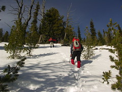 Kyle and Steve heading up the East side of Klone.