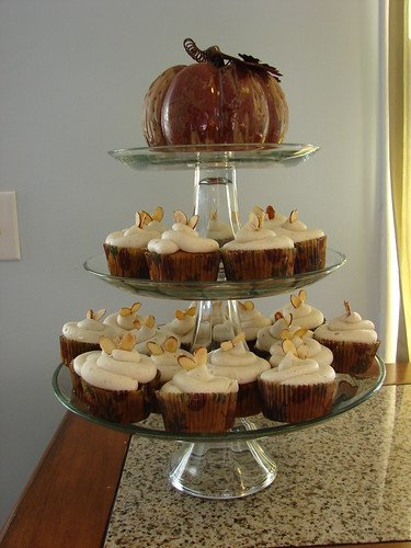 Pumpkin cupcake tower