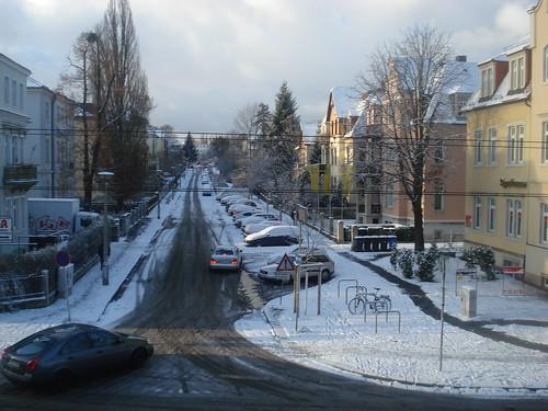 Vista del carrer del nostre hotel
