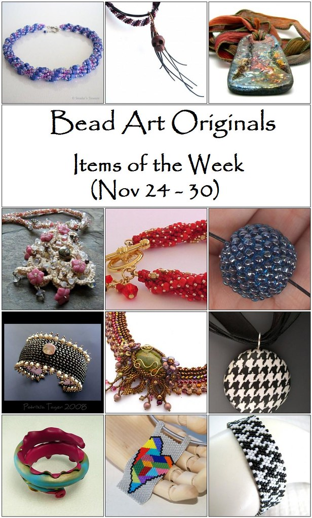 Bead Art Originals Items of the Week (Nov 24-30)