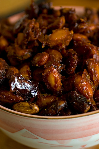 thanksgiving sofrito candied almonds