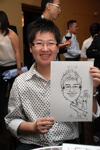 Caricature live sketching for Far East Organisation SPH Media Night The Miro 14