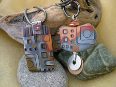 Sedona (julie_picarello) Tags: house yellow silver beads julie jewelry epoxy resin rivet gane mokume picarello