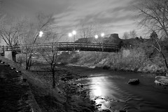 Night Bridge (Chase Hoffman) Tags: bridge blackandwhite bw art monochrome night landscape golden blackwhite nikon explore clearcreek explored chasehoffman pfogold pfosilver chasehoffmanphotography