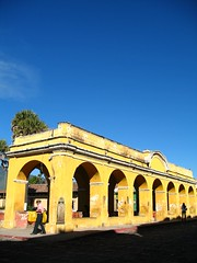 Arches, Anyone, Anyone? (Rudy A. Girn) Tags: people guatemala arches bluesky antiguaguatemala yellowarches rudygiron laantiguaguatemala lagdp uniontank 73292mm tanquedelaunion publicwashbins sacatepequez lagdpcard200906 elchiltepe elchiltepeslide