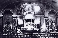 St. Augustine Church interior 1908 ~courtesy St. Augustine of Hippo Congregation