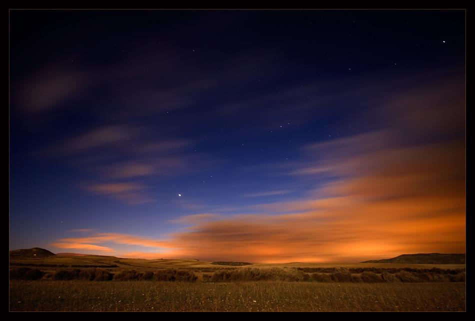 Bardenas Diciembre 2008 y luna llena.