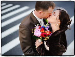 A Crosswalk to Remember (Ryan Brenizer) Tags: newyorkcity november wedding portrait love groom bride nikon kiss bokeh noflash gothamist elopement d700 sigma50mmf14ex