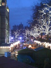Ice rink and holiday fayre outside the museum