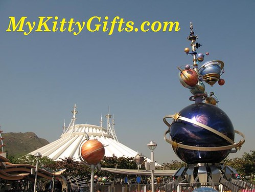 Hello Kitty's View of Interior of Space Mountain, Hong Kong Disneyland